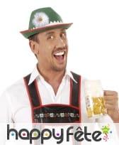 Chapeau de bavarois avec marguerite