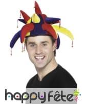 Chapeau de bouffon multicolore en velours