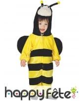 Combinaison de bébé abeille avec ailes et capuche