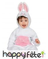 Combinaison de bébé lapin blanc et rose