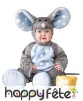 Combinaison de bébé souris grise, luxe