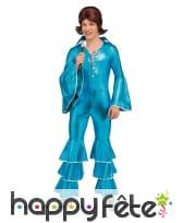 Combinaison disco bleue pour homme, image 1