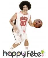 Costume de basketteur Blood tâché de sang, adulte, image 1