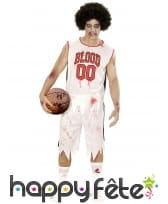 Costume de basketteur Blood tâché de sang, adulte