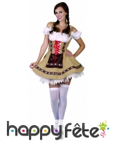 Costume de bavaroise marron clair, image 1