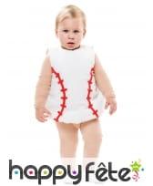 Costume de bébé balle de baseball, image 1