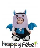 Costume de bébé chauve-souris bleu et violet