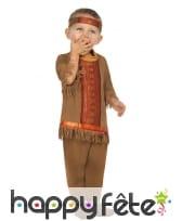 Costume de bébé indien marron à franges
