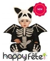 Costume de bébé squelette chauve souris pour bébé