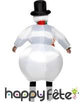 Costume de bonhomme de neige gonflable, image 1