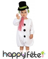 Costume de bonhomme de neige pour bébé