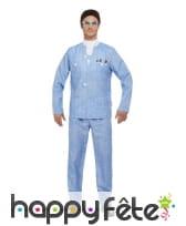 Costume de Brain pour homme, Thunderbirds, image 1