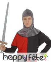 Cagoule de chevalier médiéval pour enfant