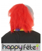 Cagoule de clown avec cheveux rouges, image 1