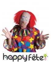 Cagoule de clown avec cheveux rouges, image 2
