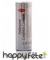 Canon de confettis irisé de 15 cm