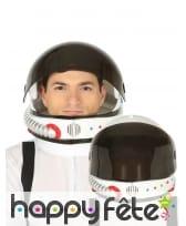 Casque de cosmonaute avec visière teintée, adulte
