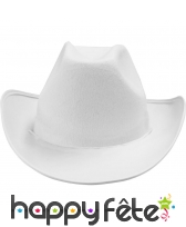 Chapeau de cow-boy blanc adulte