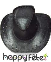 Chapeau de cow boy croco noir