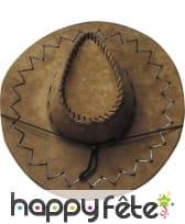 Chapeau de cow-boy marron adulte texas