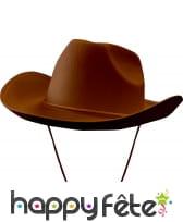 Chapeau de cow boy marron adulte
