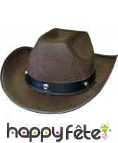 Chapeau de cow-boy marron