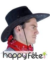 Chapeau de cow-boy noir adulte texas