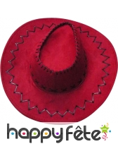 Chapeau de cow-boy rouge adulte texas