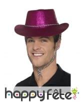 Chapeau de cowboy à paillettes, image 1