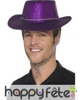 Chapeau de cowboy à paillettes, image 3