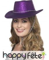 Chapeau de cowboy à paillettes, image 4