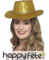 Chapeau de cowboy à paillettes, image 7