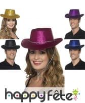 Chapeau de cowboy à paillettes