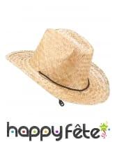 Chapeau de cowboy en paille pour adulte, image 1
