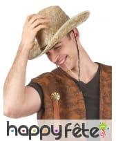 Chapeau de cowboy en paille pour adulte, image 2