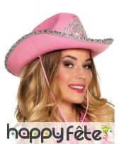 Chapeau de Cowgirl girly en feutrine, image 1