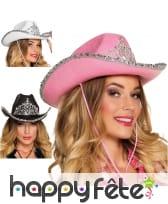 Chapeau de Cowgirl girly en feutrine