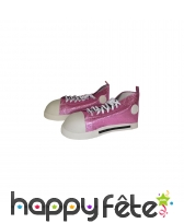 Chaussures de clown rose pailleté
