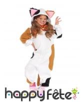 Combinaison de chat tacheté pour fille