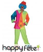 Combinaison de clown coloré pour adulte, image 1
