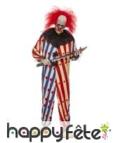 Combinaison de clown tueur rouge bleu pour homme, image 1