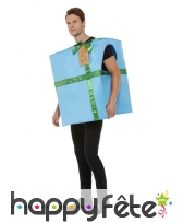 Costume de cadeau bleu pour adulte, image 3
