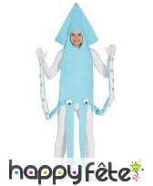 Costume de calamar bleu