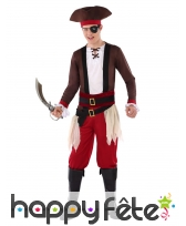 Costume de capitaine pirate pour ado