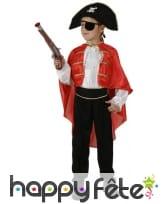 Costume de capitaine pirate pour garçon