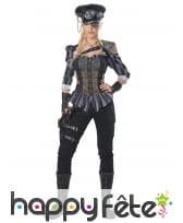 Costume de capitaine steampunk pour femme adulte