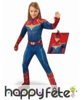 Costume de Captain Marvel pour fille