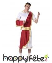 Costume de César blanc et rouge