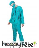 Costume de chirurgien zombie pour adulte, image 1