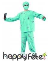 Costume de chirurgien zombie pour adulte, image 3